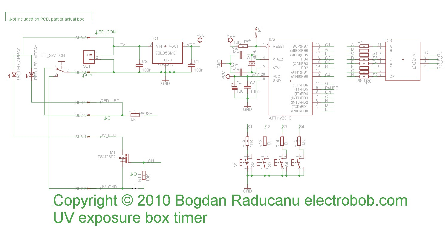 Led Uv Exposure Box Part 2 The Timer Electro Bob Schematic Hex Pcb Because