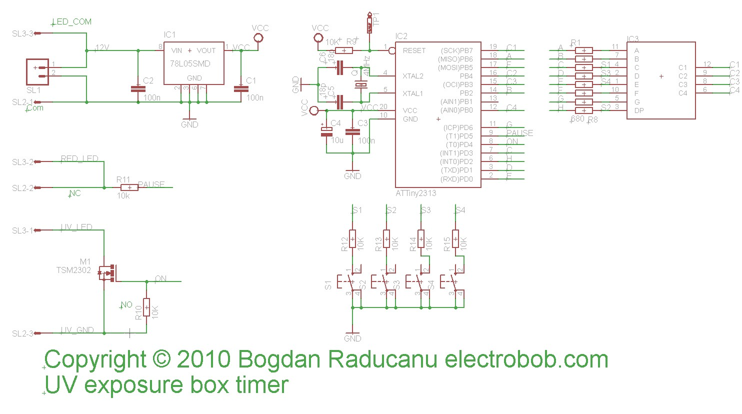 Led Uv Exposure Box Part 2 The Timer Electro Bob Clock Circuit Connection