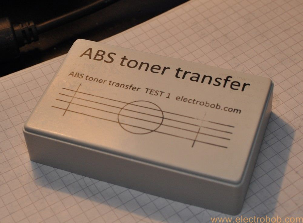 Toner transfer to ABS – Electro Bob