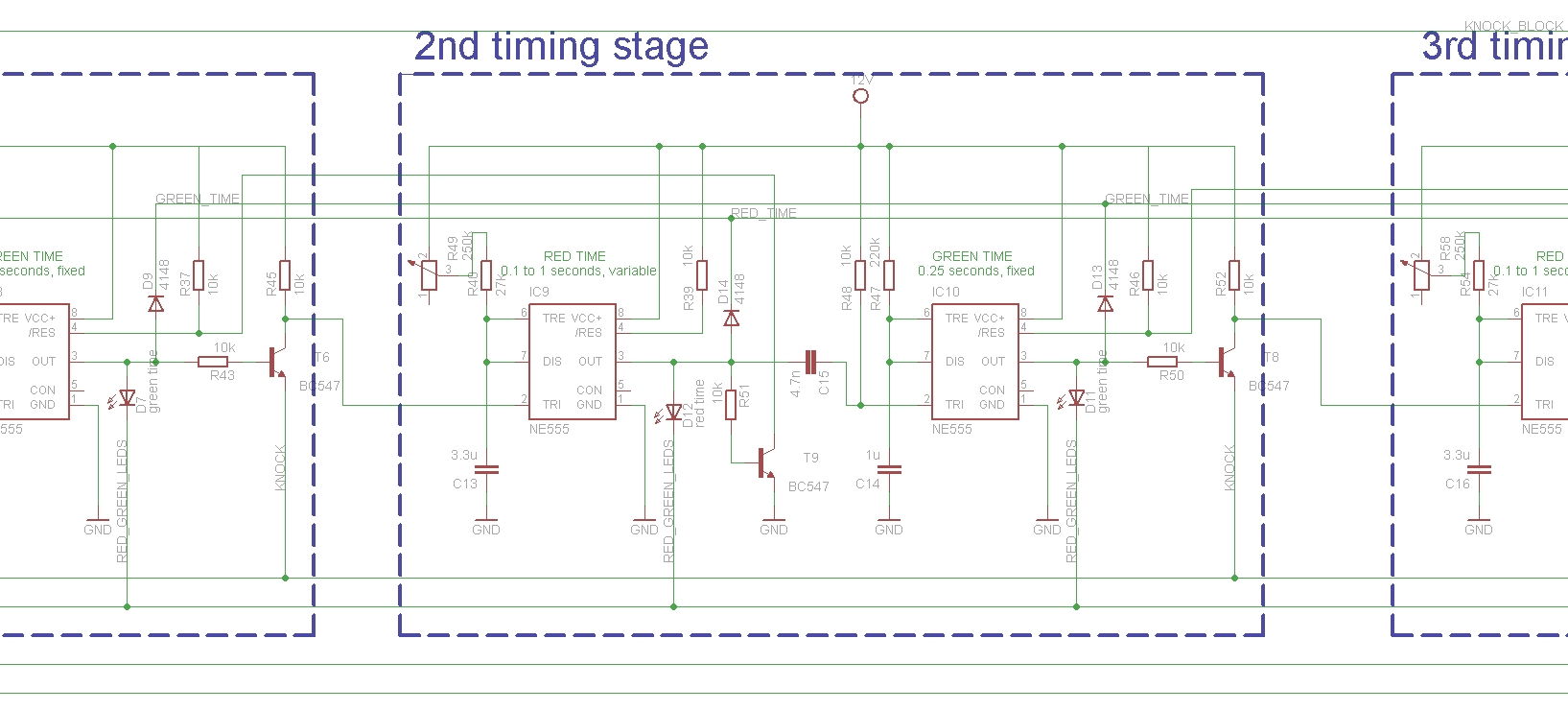 Secret Knock Detector With 555 Electro Bob Door Open Alarm Using Timer Circuit There Are 7 Timing Stages Which Meant To Detect If The Pulses Arrive At Correct Timings Measure Intervals And Along First Pulse