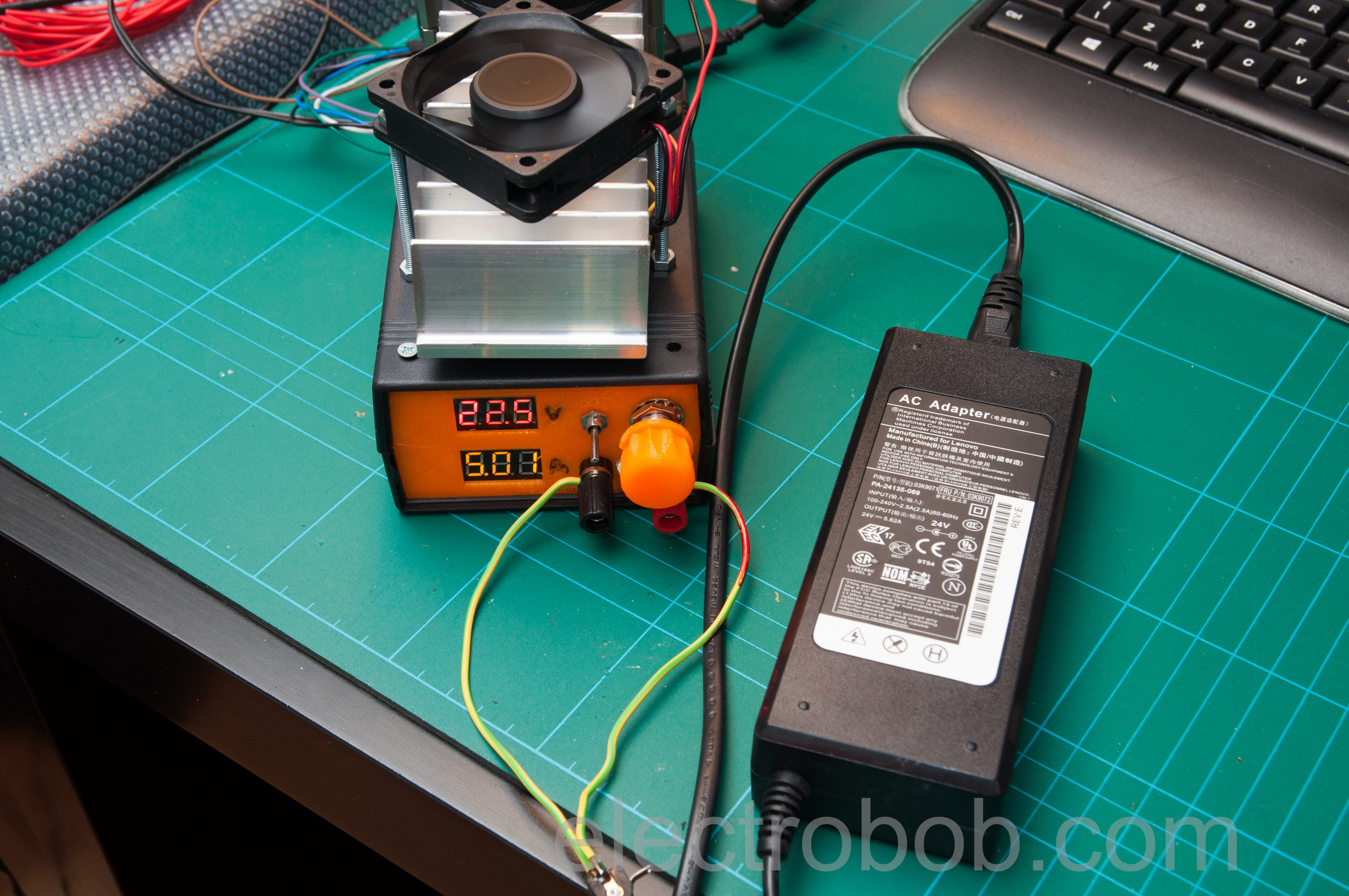 Psu Burner Electro Bob Circuit Continuity Tester Using Opamps Eeweb Community And Finally Testing The Speed A 7805 Regulator Short Output Wires 10khz 1a Load Rise Fall Time Are About 21s